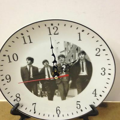 BEATLES   Plate Wall Clock With Blue Hands **BRAND NEW**