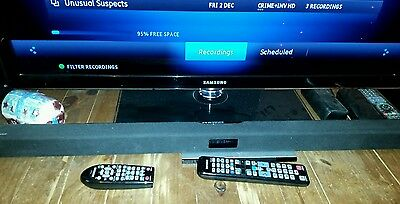 Samsung 40 inch full hd tv and sound bar