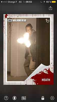 Topps the walking dead Topps white special card Heath