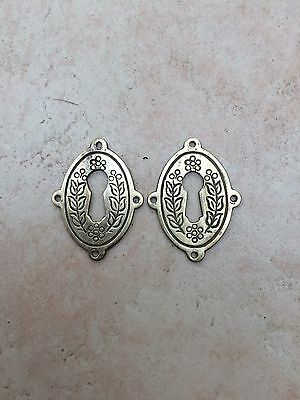 Pair of Antique Style Solid Brass Escutcheons