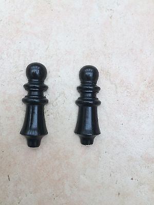 Good Pair of Victorian Solid Ebony and Brass Escutcheons