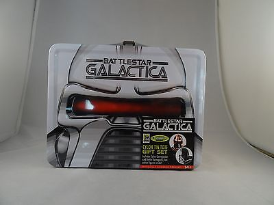 SDCC Exclusive Sealed 2 Battlestar Galactica Cylon Action Figures in Tin Tote
