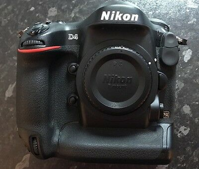 Nikon D D4 16.2MP Digital SLR  Black Body only  Perfect Condition (SC 13997)