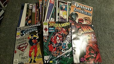 BULK Lot of 40 MIXED COMICS inc DC Marvel - SPIDER-MAN X-MEN - FREE POSTAGE