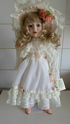 Hanah Porcelain China Doll With Stand