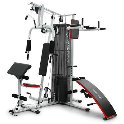 175LBS Multi Station Home Gym Fitness Weight Stack Exercise Equipment Bench