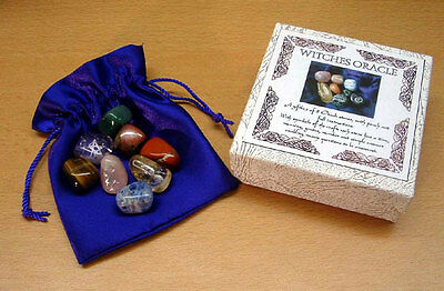 Beautiful Set of 8 Witches Crystal Oracle Stones