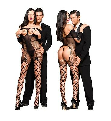 Sexy Bodystocking Fishnet Open Cup Lingerie Womens Nightwear UK SIZES 8-14| A2
