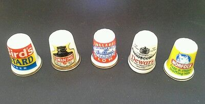 A Fist full of Thimbles mixed lot Bone China Sewing collectable