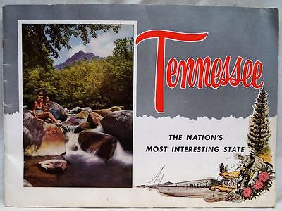 STATE OF TENNESSEE SOUVENIR ADVERTISING TRAVEL & TOURISM BROCHURE GUIDE 1950s