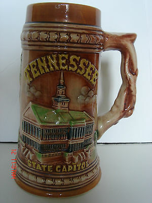 Vintage Tennessee State Capitol Souvenir  Large 7''tall Ceramic Beer Stein Mug