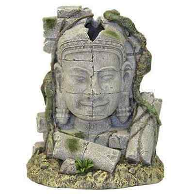 Rosewood Ancient Stone Head Ruin Aquarium Decor - SAME DAY DISPATCH