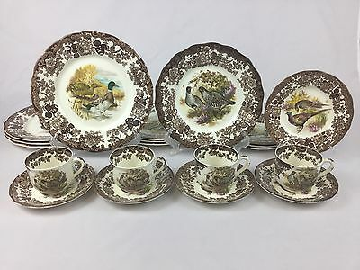 Royal Worcester Palissy Game Series 20-Piece Set for FOUR Game Birds