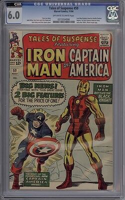 Tales Of Suspense #59 - CGC Graded 6.0 - Captain America Begins In Title