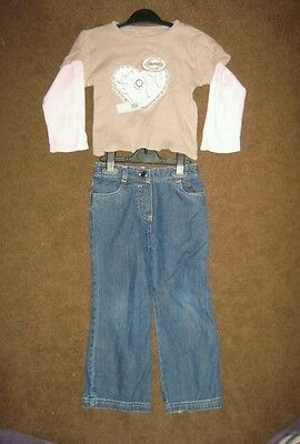 Girls jean & top set age 3-4years