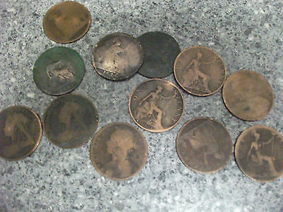 old british penny coins, part of late uncles collection
