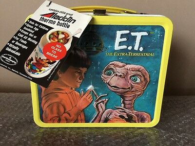 WOW Vintage E.T. Extra Terrestrial Metal Lunchbox & Thermos  w/ tags