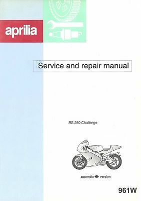 Aprilia RS250 Challenge Cup Manual - Part Number: 961W- NEW