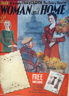 RARE VINTAGE MAGAZINE WOMAN and HOME NOV 1937