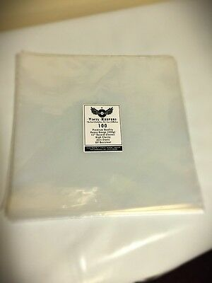 """100 x 12"""" Anti Static 450g Vinyl Keepers Polythene Record Sleeves"""