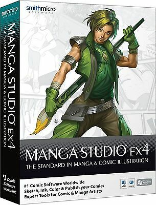 Manga Studio EX4  Retail Box FREE SHIPPING!
