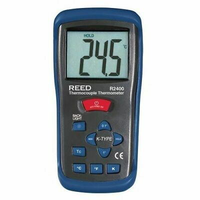 REED R2400 Type K Thermocouple Thermometer, -58 to 2000°F & 223 to 2000 Kelvin