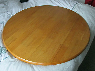 Circular Table And Four Chairs  Wood/cream