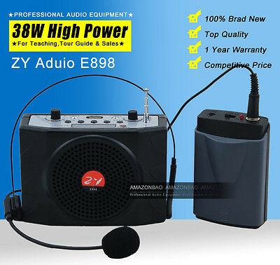 38W Mini Portable Waistband Voice Booster PA Amplifier Loudspeaker For Teach