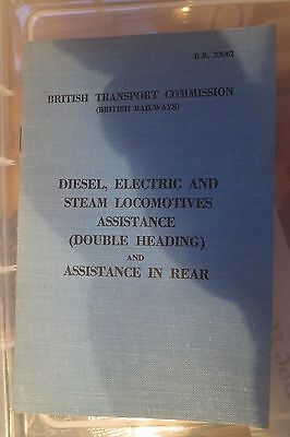 Railway Book - Diesel Electric and Steam Locomotive - assistance in rear