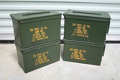 4 Us Military Surplus M2A1 .50 Cal 5.56 Ammo Cans Tool Box Prepping Storage Sale