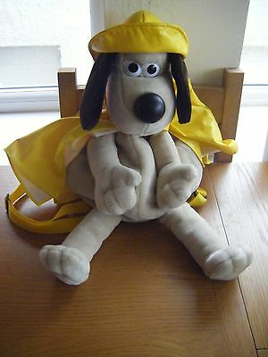 Novelty Gromit backpack, Wallace and Gromit, Aardman, in raincoat, 50cm long