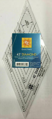 EZ Quilting 45 Degree Diamond Shape Acrylic Template Quilting Simplicity