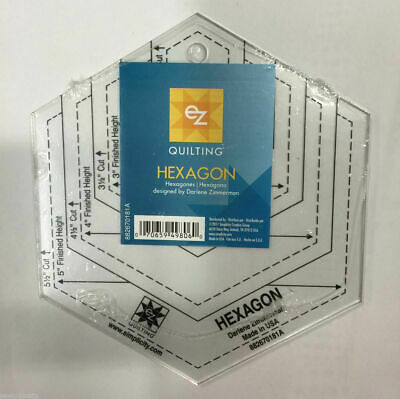 EZ Quilting Hexagon Acrylic Template Quilting Simplicity