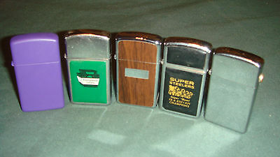 Zippo Set Of 5 Lighters .mix Years Dont Pass