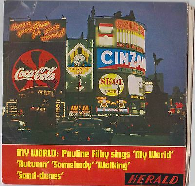 """' My World ' - recorded by Pauline Filby - 7"""" E.P."""