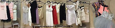 22 assorted womens party wear dresses all sizes BNWT wholesale JOBLOT £88