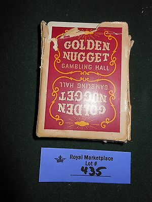 Vintage Casino Playing Cards Golden Nugget Deck downtown Gambling Hall RED