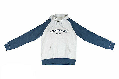 NEW VW Volkswagen Driver Gear XL Est 1949 Hoodie In Deep Blue Heather Ash
