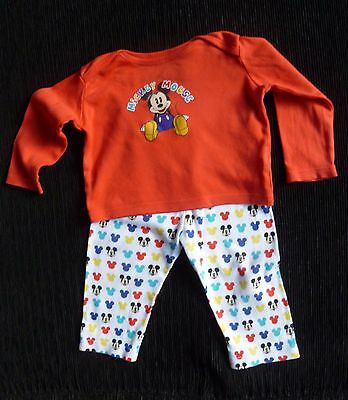 Baby clothes BOY GIRL 9-12m Disney Mickey Mouse red pyjamas 2nd item post-free!