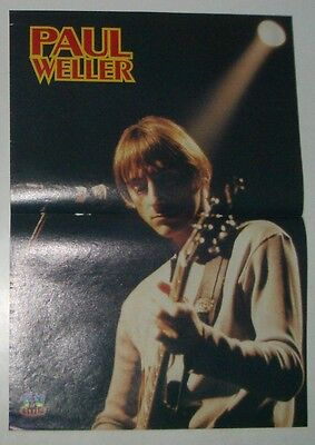 Vintage Paul Weller Poster, early 90's Portugal The Jam