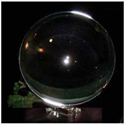 Find Something Different Crystal Ball with Stand, Glass, Multi-Colour, 8 cm