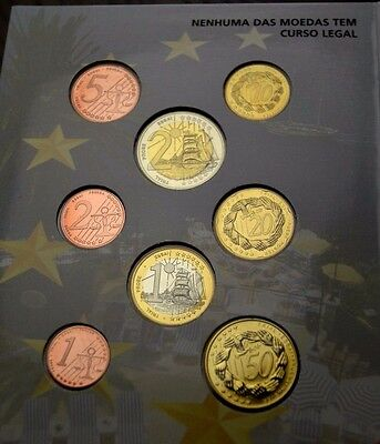2005 Madeira Proof Coin Set Euro Pattern Collection Coins Europe Eu Union