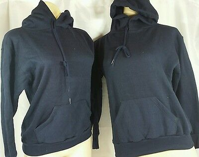 Vintage Youth Large Hoodie Navy Bundle Lot of 2 Russell Athletic Dead Stock