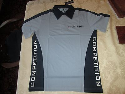 Colmic Competion Polo  Blue Short Sleeved T.Shirt - Size M - BNWT *FREE GIFT