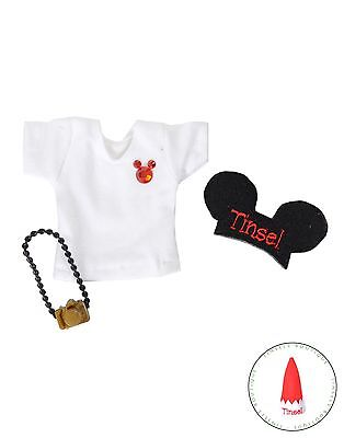 New Christmas Elf Disney Red Mickey Mouse Tshirt & Camera Set For on The Shelf