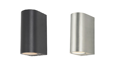 Antar Up and & Down Outdoor Wall Light, Stainless Steel/ Black SLEEK DESIGN
