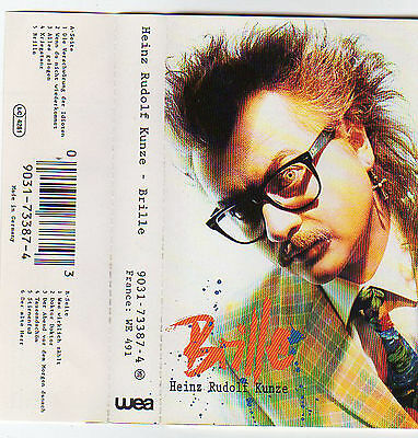 HEINZ RUDOLF KUNZE Brille MC Tape MUSIKKASSETTE 1991 WEA Made in Germany