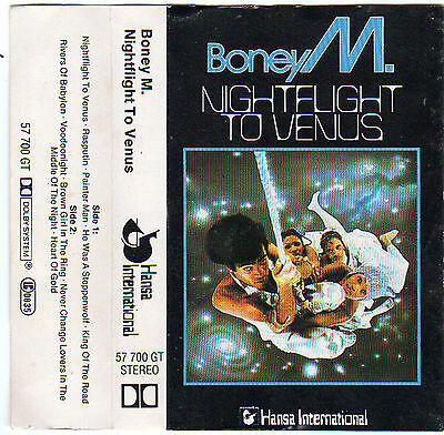 BONEY M. Nightflight To Venus MC Tape MUSIKKASSETTE 1978 Ariola Germany