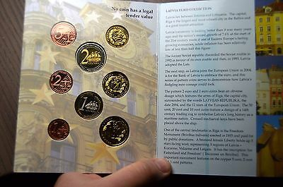 2004 Latvia Proof Coin Set Euro Pattern Collection Coins Europe Union Eu X