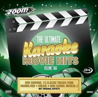 Zoom Karaoke The Ultimate Movie Hits Volume 2 CD + G New Sealed